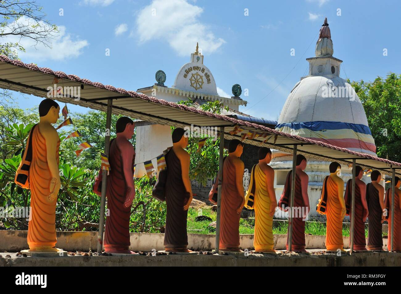 Buddhist Monastery, South Province, Sri Lanka, Indian subcontinent, South Asia. - Stock Image