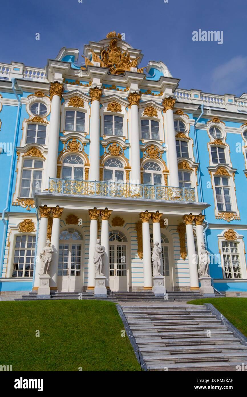 Catherine's Palace, Tsarskoye Selo, Pushkin, UNESCO World Heritage Site, Russia - Stock Image