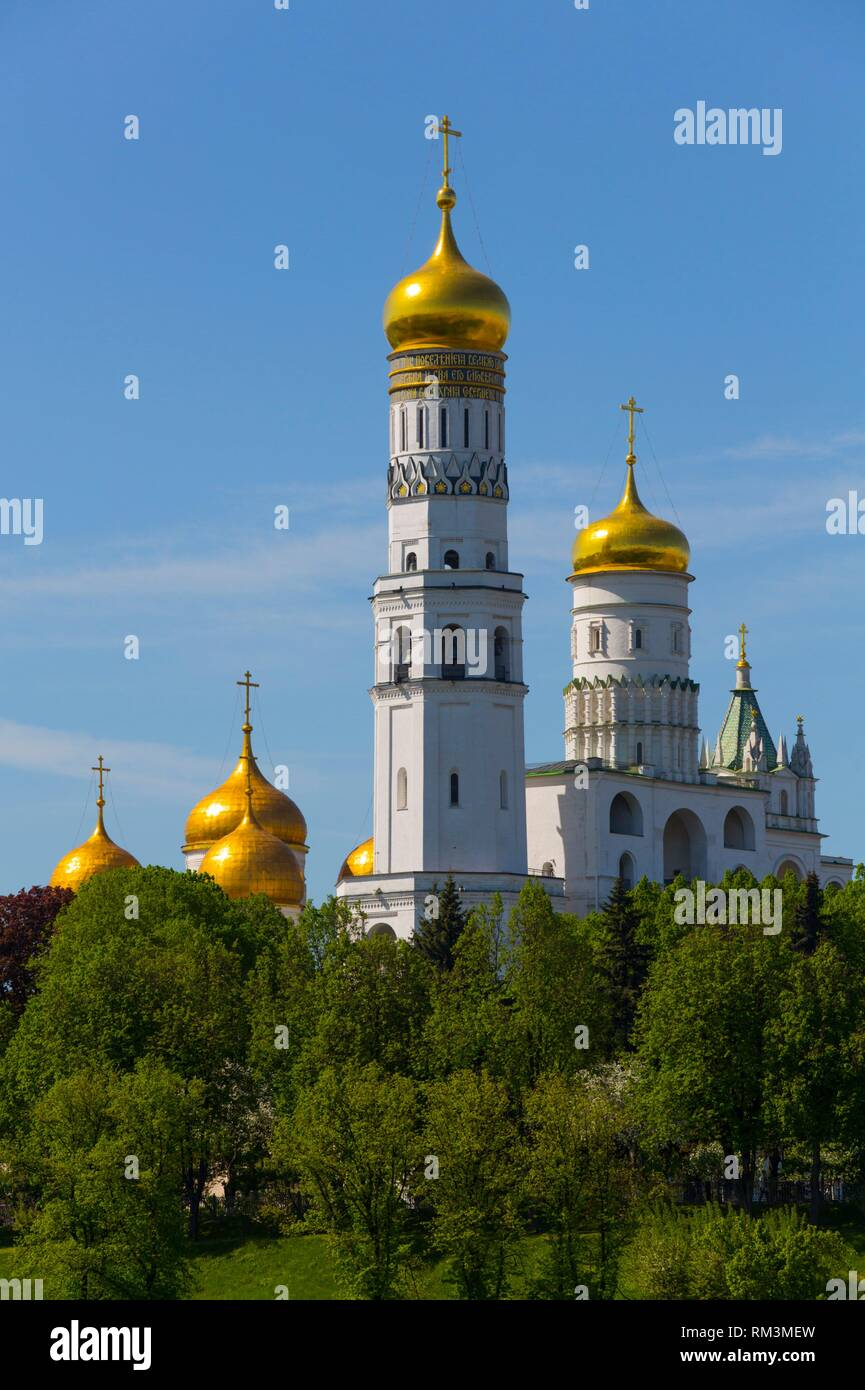 The Kremlin, UNESCO World Heritage Site, Moscow, Russia - Stock Image