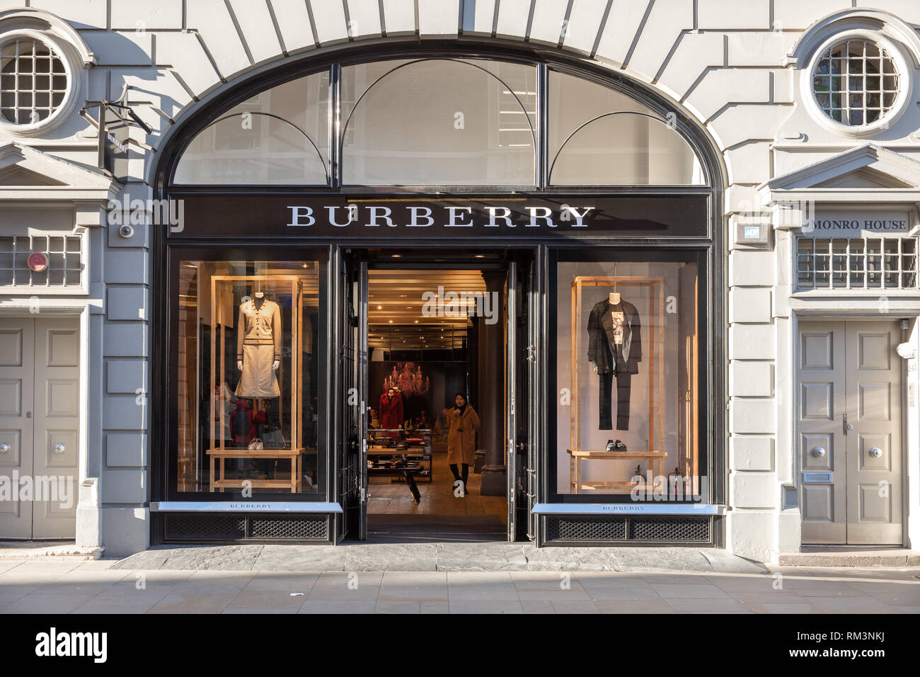 The Burberry Store, - Stock Image