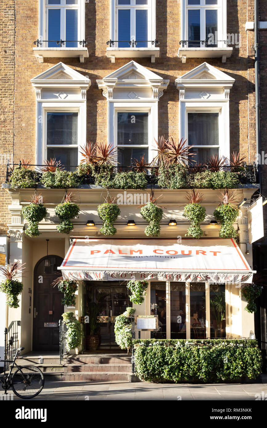 Palm Court Brasserie, Covent Garden, London - Stock Image