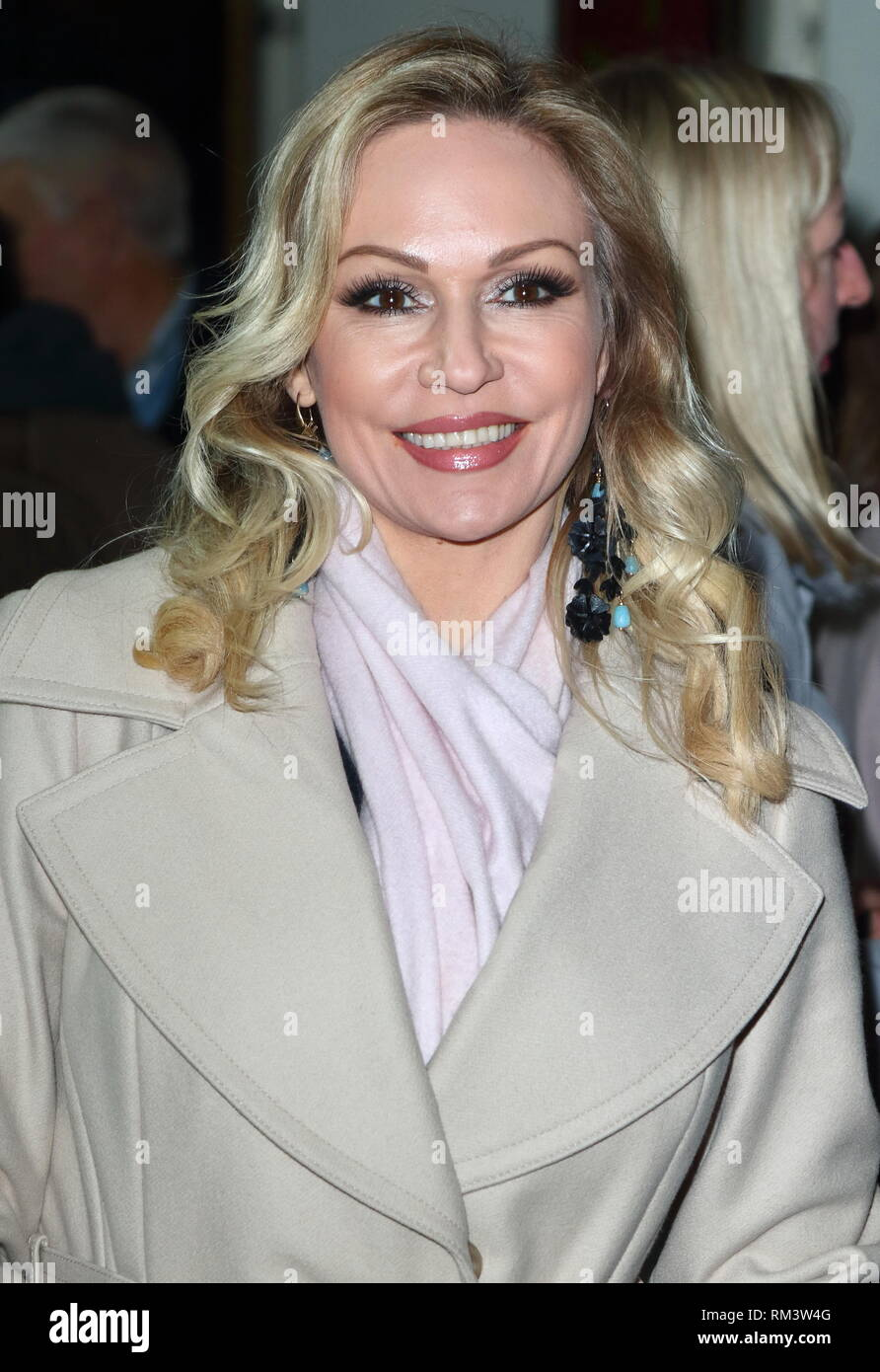 Kristina Rihanoff at the Rip It Up Press Night at the Garrick Theatre, Charing Cross Road. - Stock Image