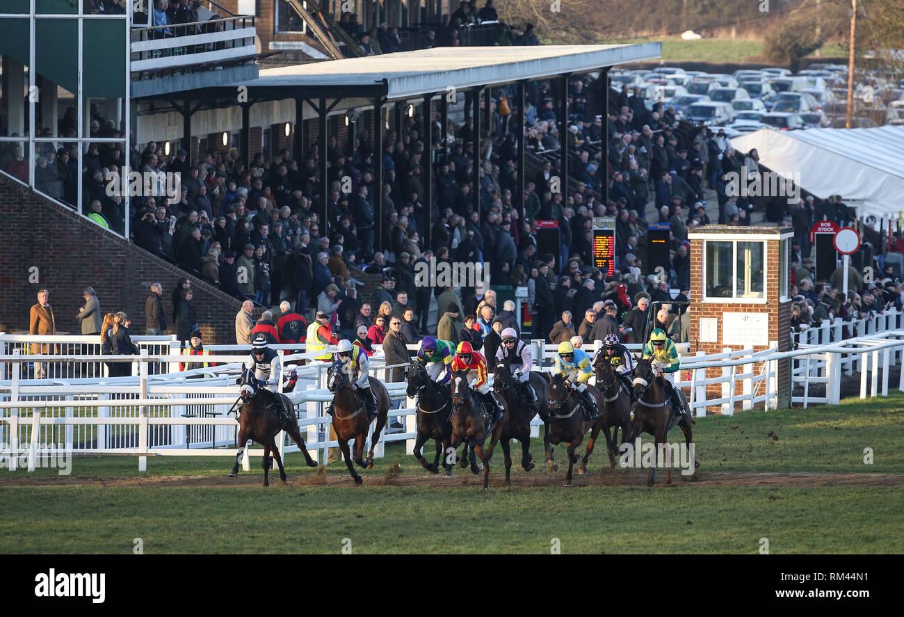 Plumpton, UK  13 February 2019 Runners and Riders back in