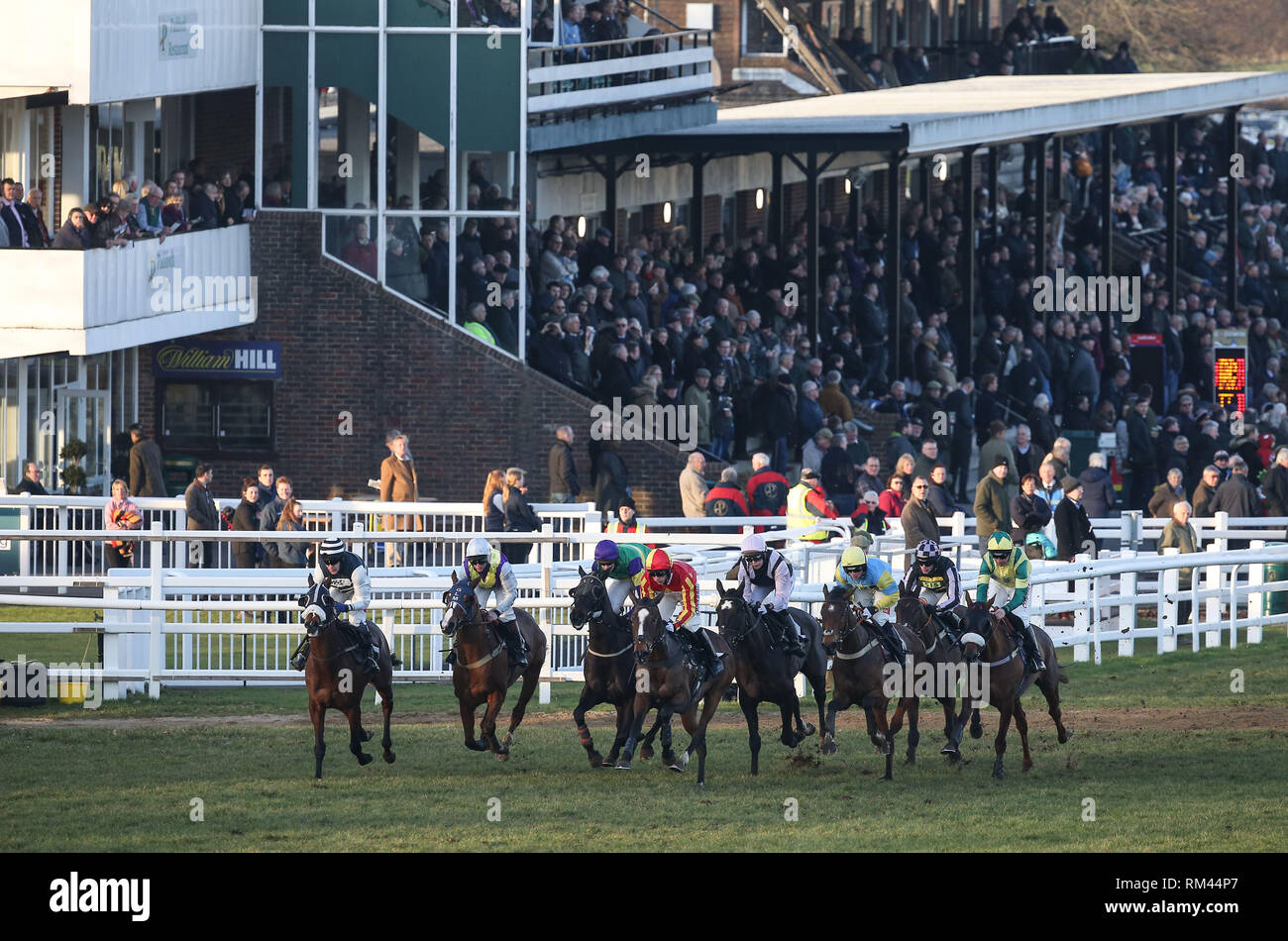 Plumpton, UK  13 February 2019 Runners and Riders back in action at