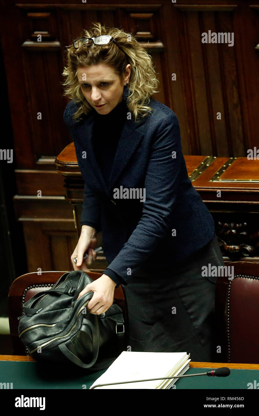 Rome, Italy. 13th Feb, 2019. Giulia Grillo Rome February 13th 2019. Lower Chamber. Ministers of Internal Affairs, of Labour and of Health at the Question Time at the Chamber of Deputies. Foto Samantha Zucchi Insidefoto Credit: insidefoto srl/Alamy Live News - Stock Image