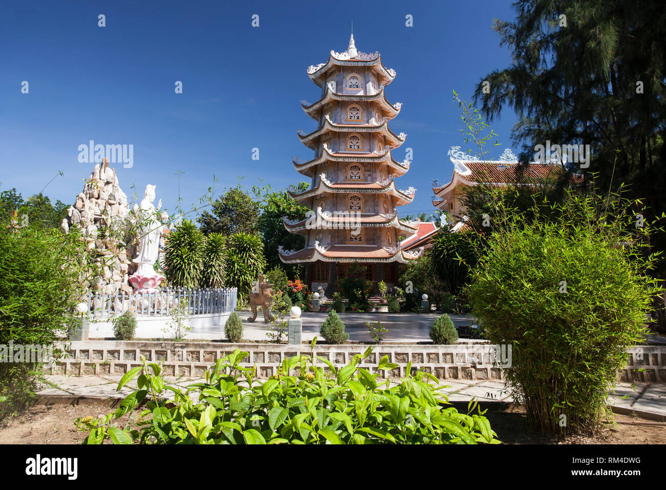 Dieu An Pagoda,temple, in Thap Cham, Phan Rang,, Ninh Thuan, Vietnam Stock Photo
