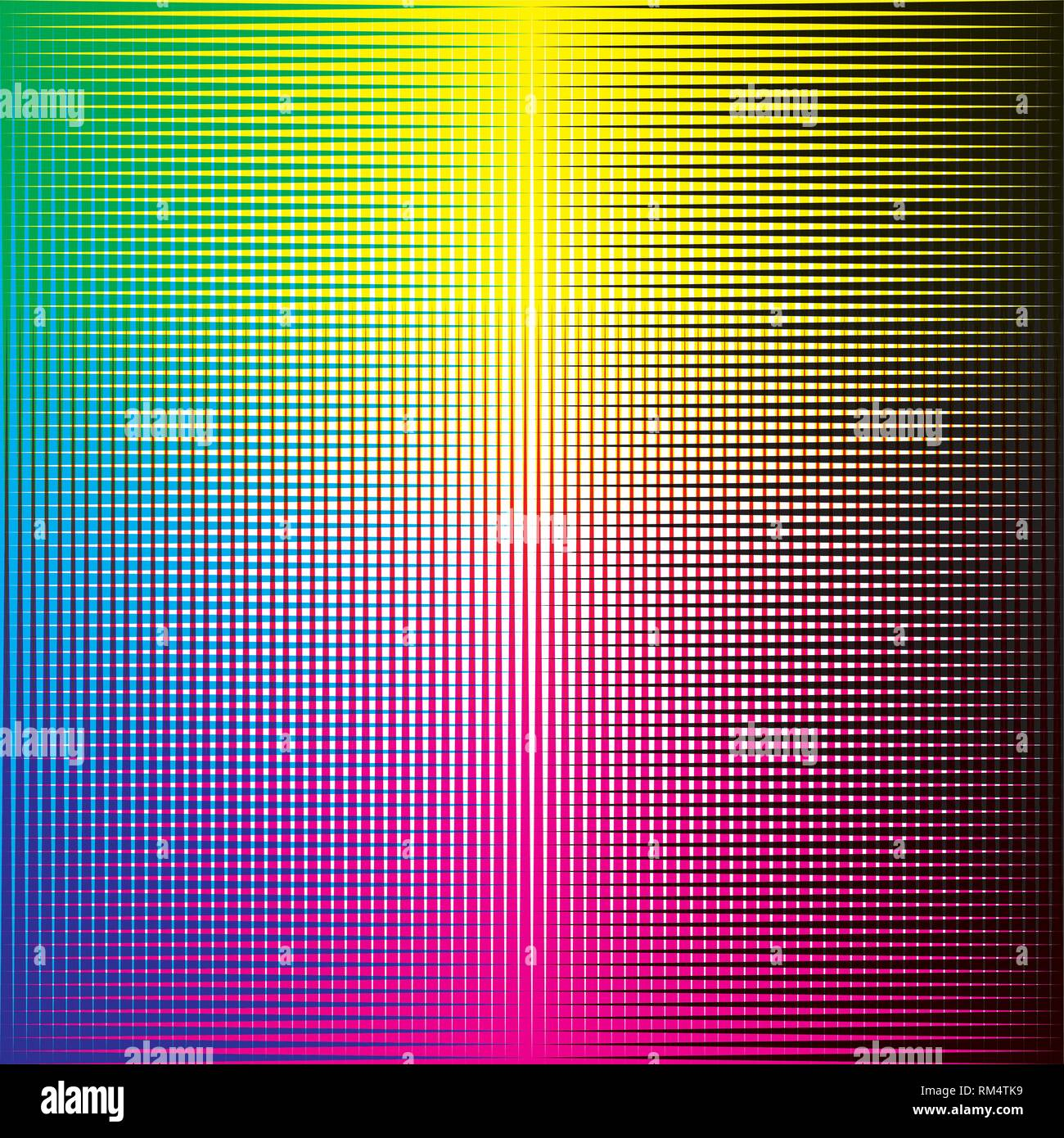 CMYK halftone background vector - Stock Image