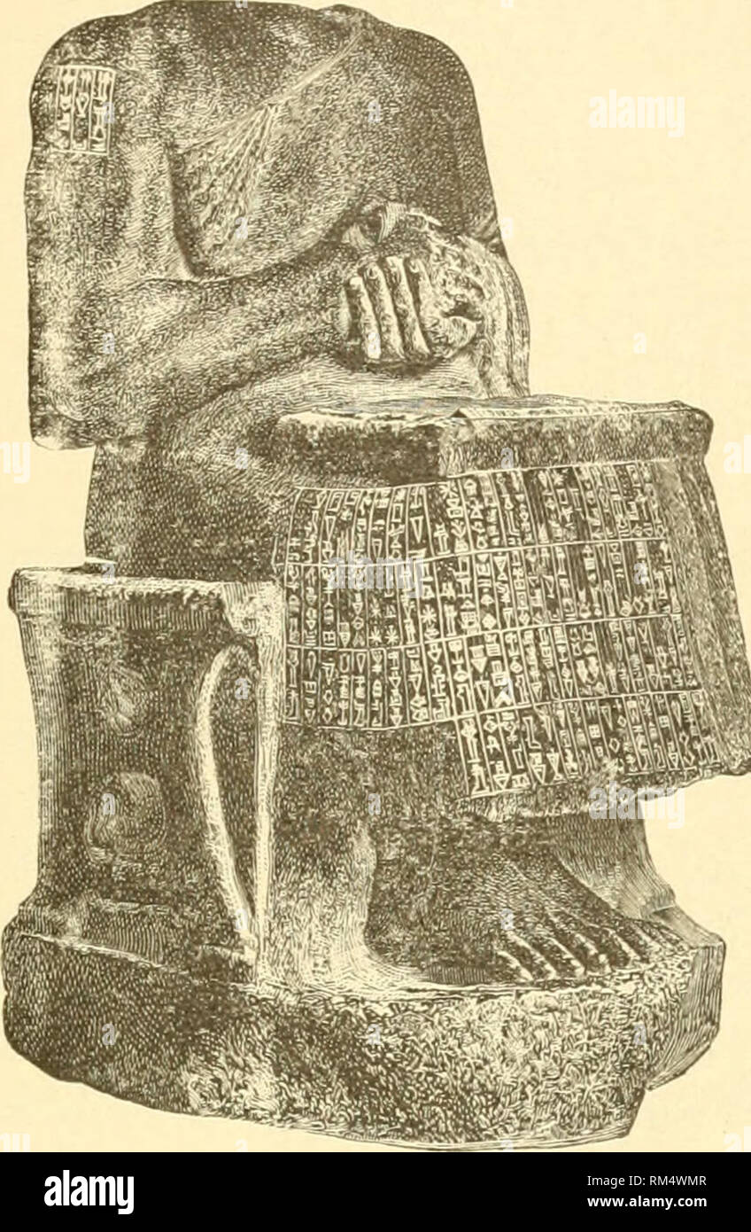 . Annual report of the Board of Regents of the Smithsonian Institution. Smithsonian Institution; Smithsonian Institution. Archives; Discoveries in science. Smithsonian Report, 1 900.—Delitzsch. Plate X.. )k^ Statue of Gudea. From the book of the Prophet Ezekiel, page 171, in the Polychrome edition of the Bible, by courtesy of Prof. Paul Haupt.. Please note that these images are extracted from scanned page images that may have been digitally enhanced for readability - coloration and appearance of these illustrations may not perfectly resemble the original work.. Smithsonian Institution. Board o - Stock Image