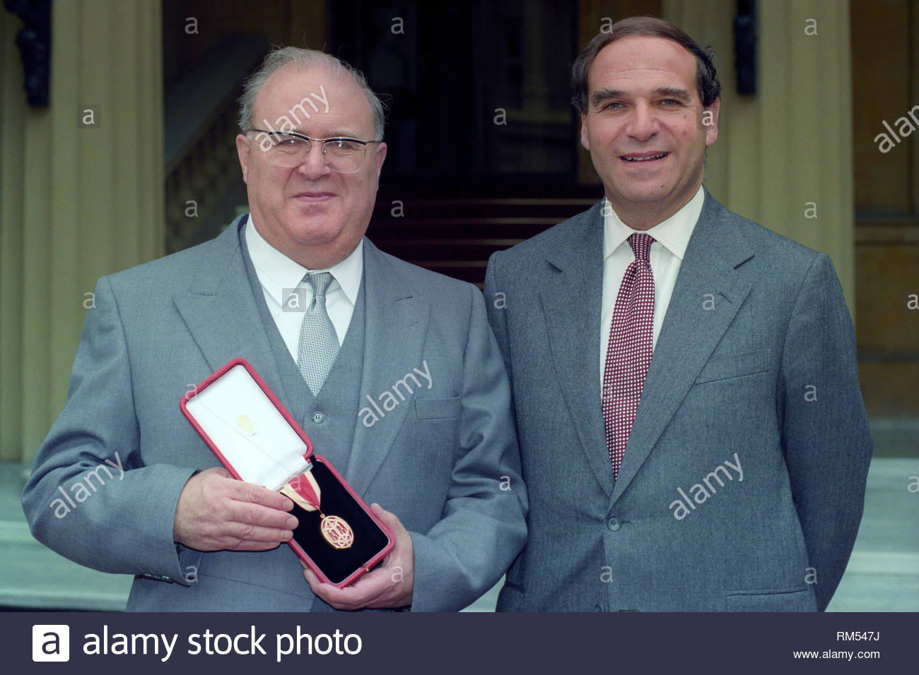File photo dated 21/07/93 of Sir Samuel Brittan (left) with