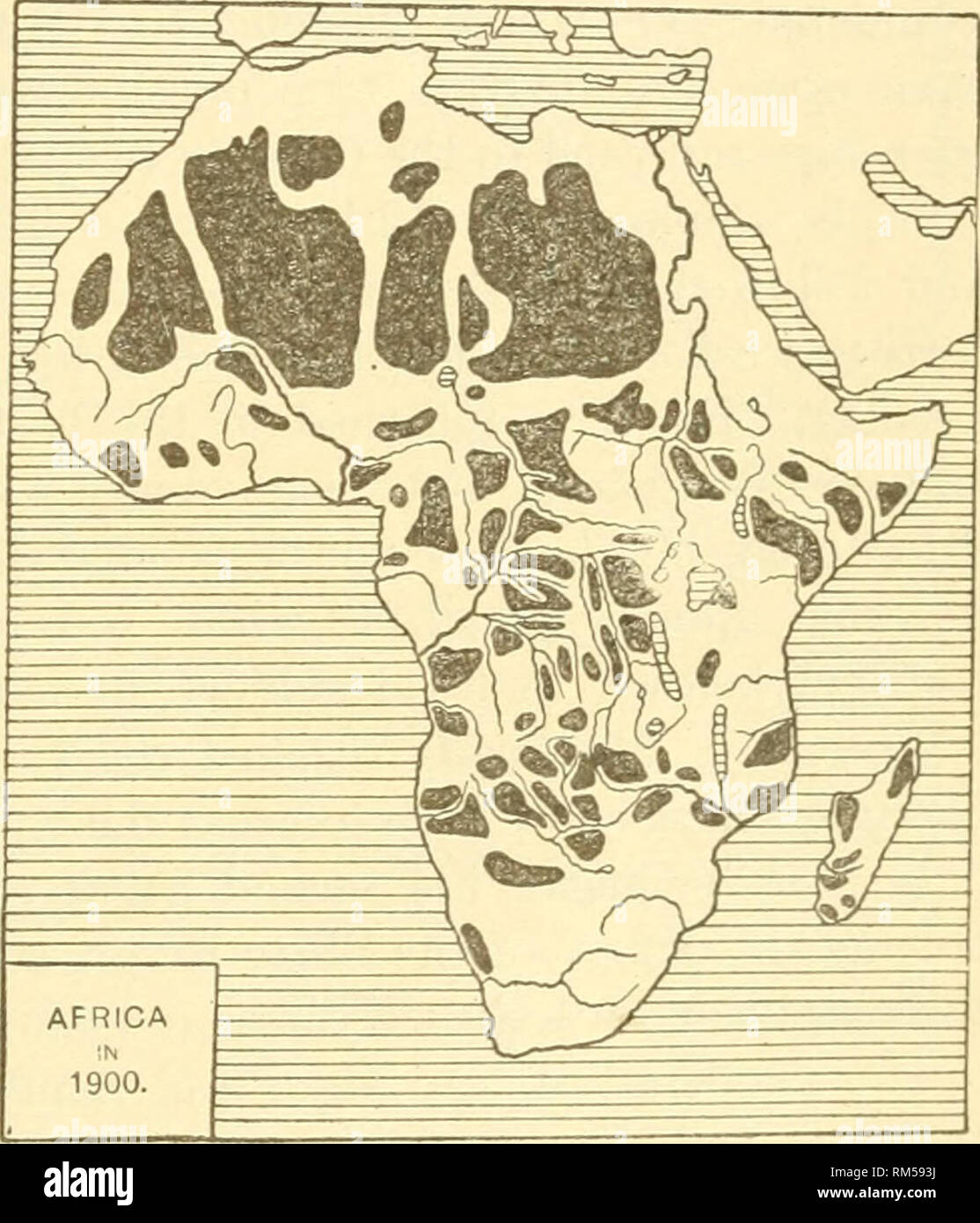 . Annual report of the Board of Regents of the Smithsonian Institution. Smithsonian Institution; Smithsonian Institution. Archives; Discoveries in science. GEOGRAPHIC CONQUESTS OF THE NINETEENTH CENTURY. 419 During- nearly tifty years after the death of Muno-o Park, explora- tion in Africa Avas confined to the Great Sahara Desert. Denhani and Clapperton in 1822-1824 pushed southward from Fezzan through the burning sands and discovered Lake Tchad, then to Bornu, and thence to Sokoto on the Niger. Several years later Clapperton ascended the Niger from its mouth to Sokoto, where he died. Another  - Stock Image