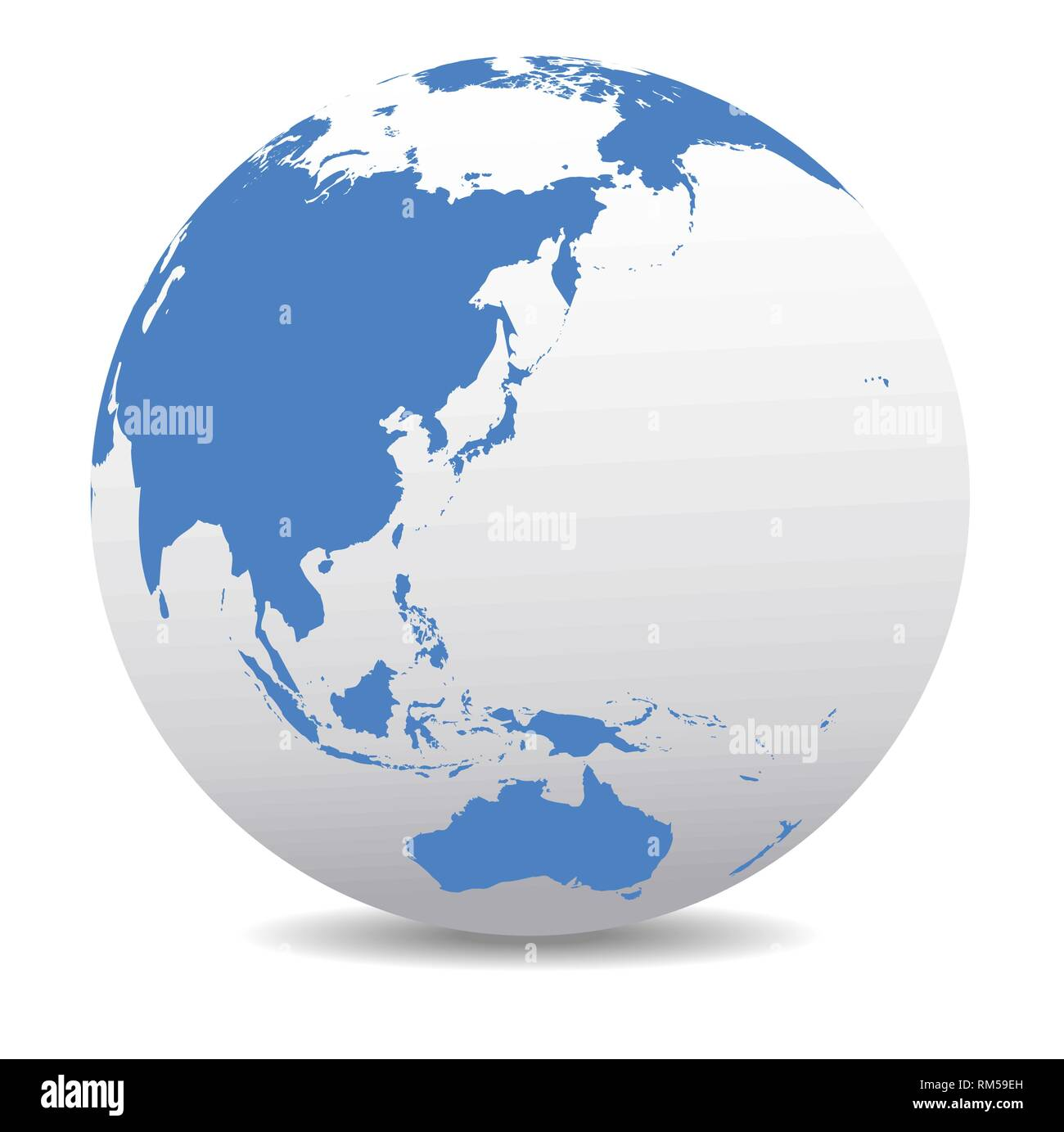 Australia Map Globe.China Japan Malaysia Thailand Indonesia Australia Global World