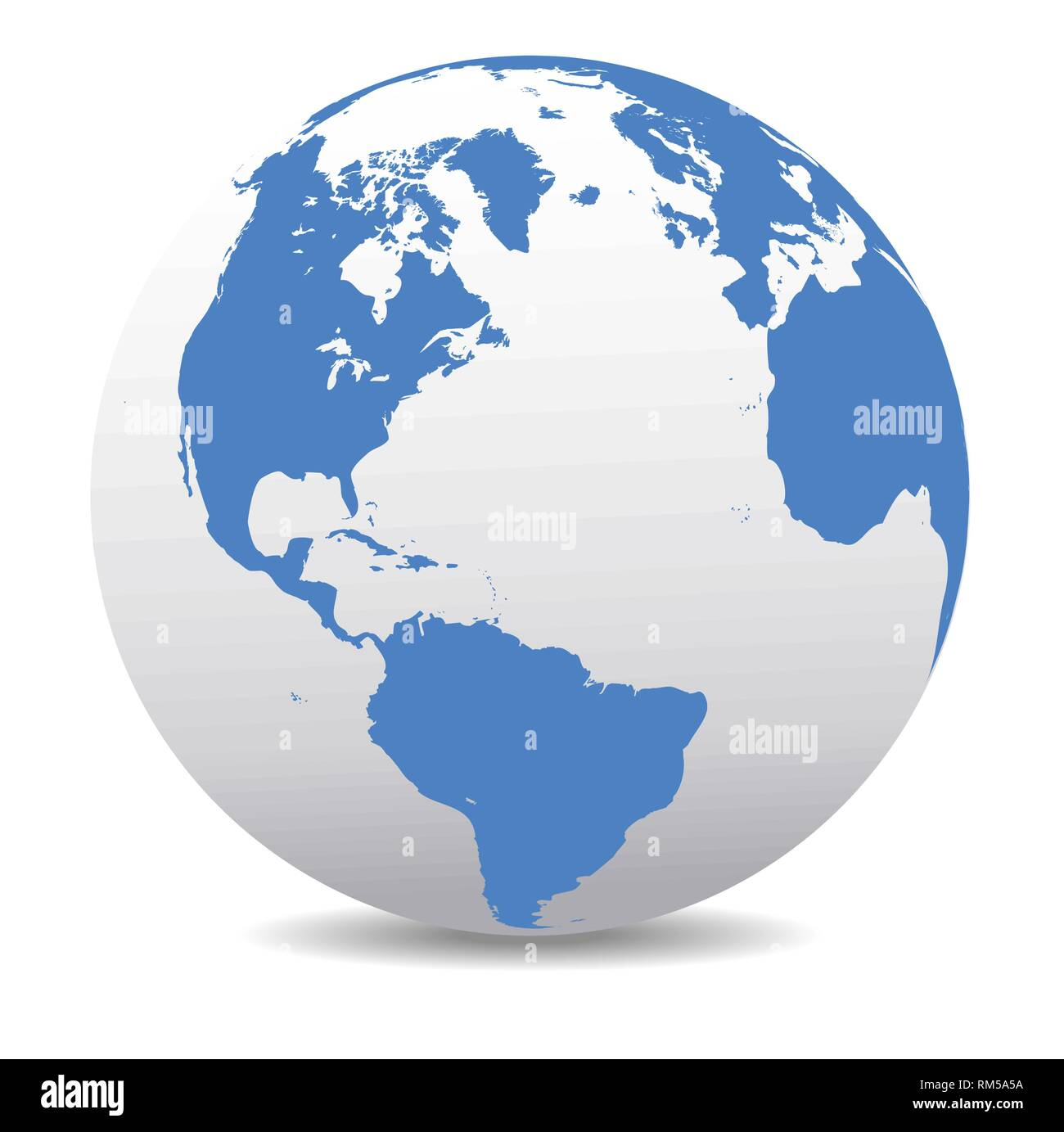 North and South America, Europe, Africa Global World, Vector ... on map of antarctica globe, map of pacific ocean globe, map of world globe,