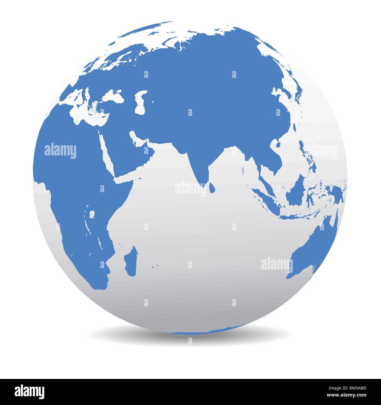 India, Africa, China, Indian Ocean, Global World, Vector Map Icon of on indian asia map, indian history map, indian nation map,