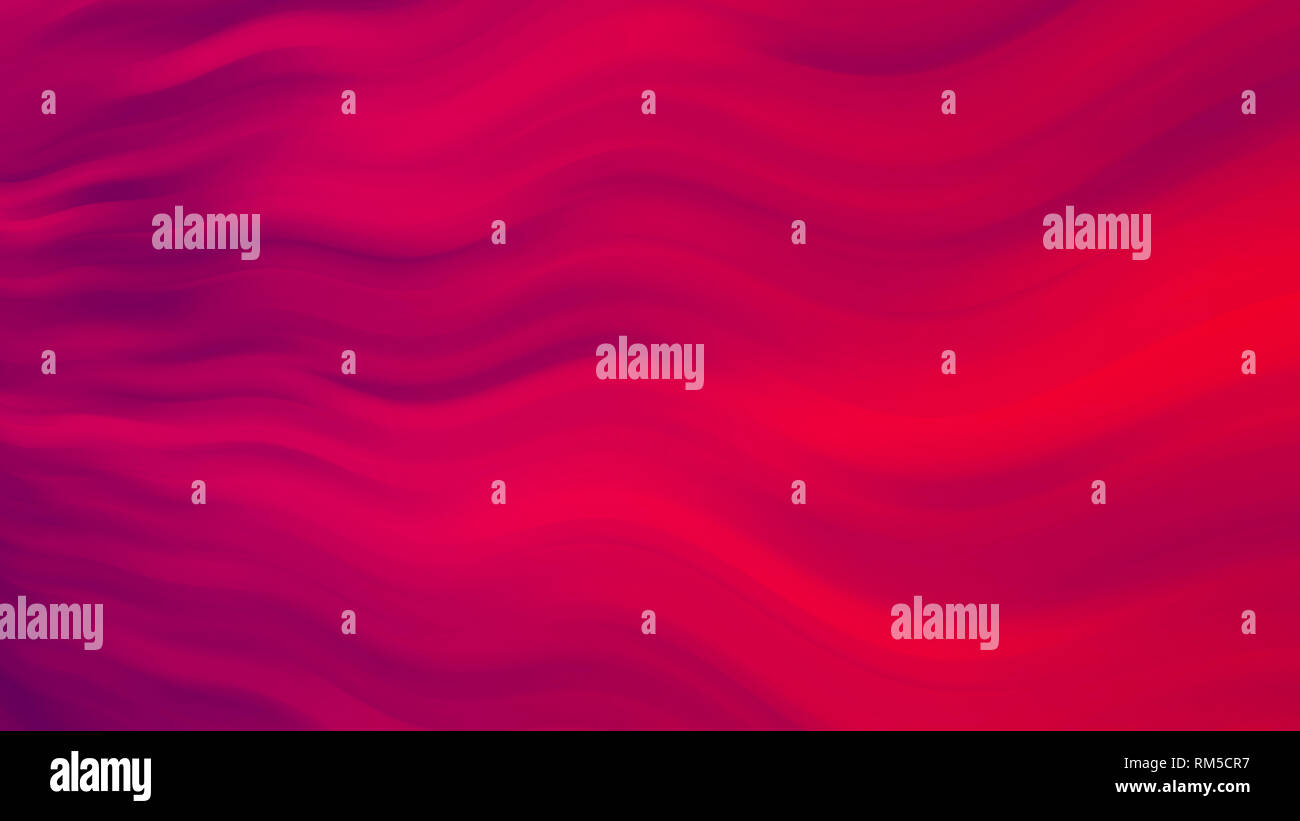 Wavy red abstract background - energy flowing, fluid motion wallpaper, 8k UHD - Stock Image