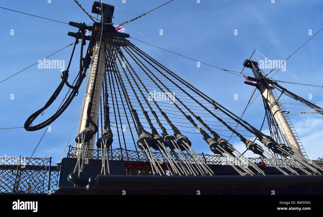 Portsmouth Historic Dockyard, Portsmouth, Hampshire, 240916 - Stock Image