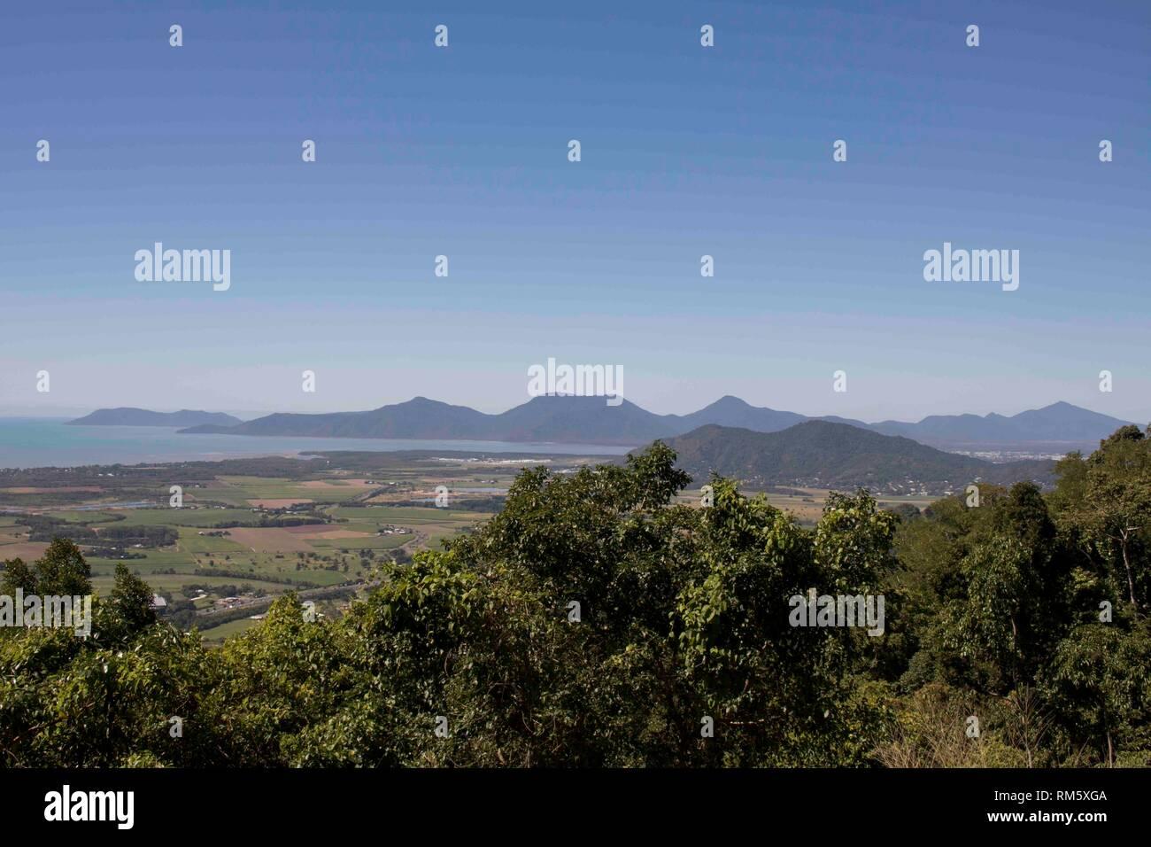 Mountain view on a sunny day, East Coast Australia Stock Photo