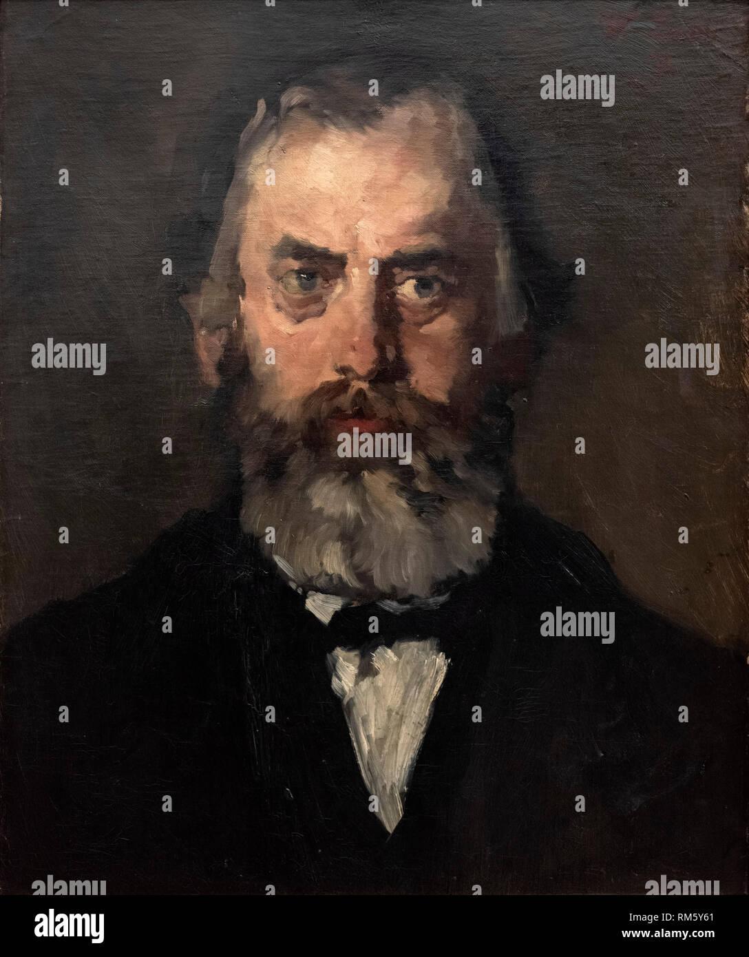 Wilhelm Leibl (1844-1900), The Appeal Magistrate Stenglein (The Bailiff), 1871. Der Appelationsrat Stenglein (Der Amtmann). Alte Nationalgalerie, Berl - Stock Image
