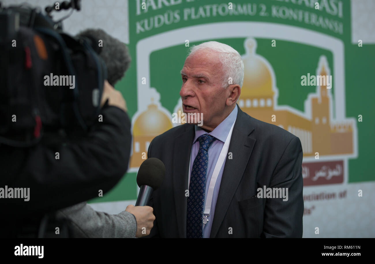 Azzam al-Ahmad head of Fatah's Central Committee and Delegation - Stock Image