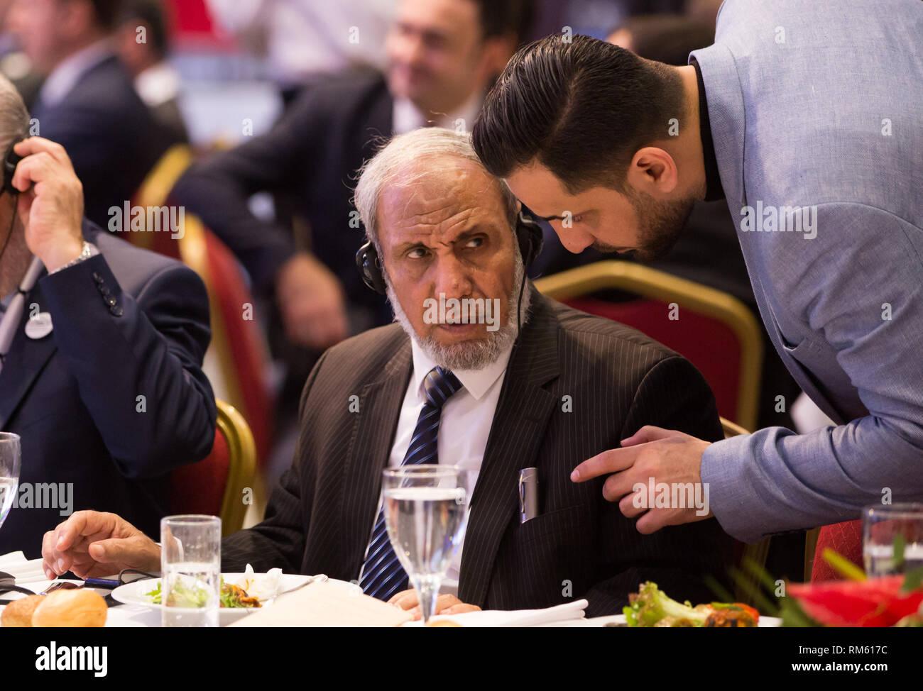 Mahmoud al-Zahar, a co-founder of Hamas and a member of the Hamas leadership in the Gaza Strip - Stock Image