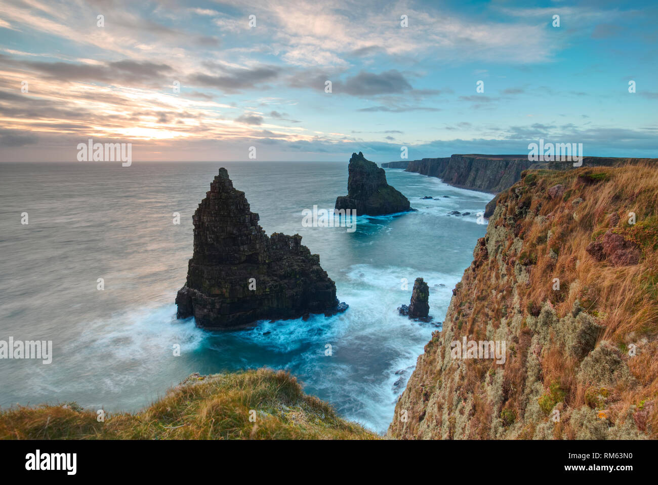 Duncansby Sea Stacks, Caithness - Stock Image
