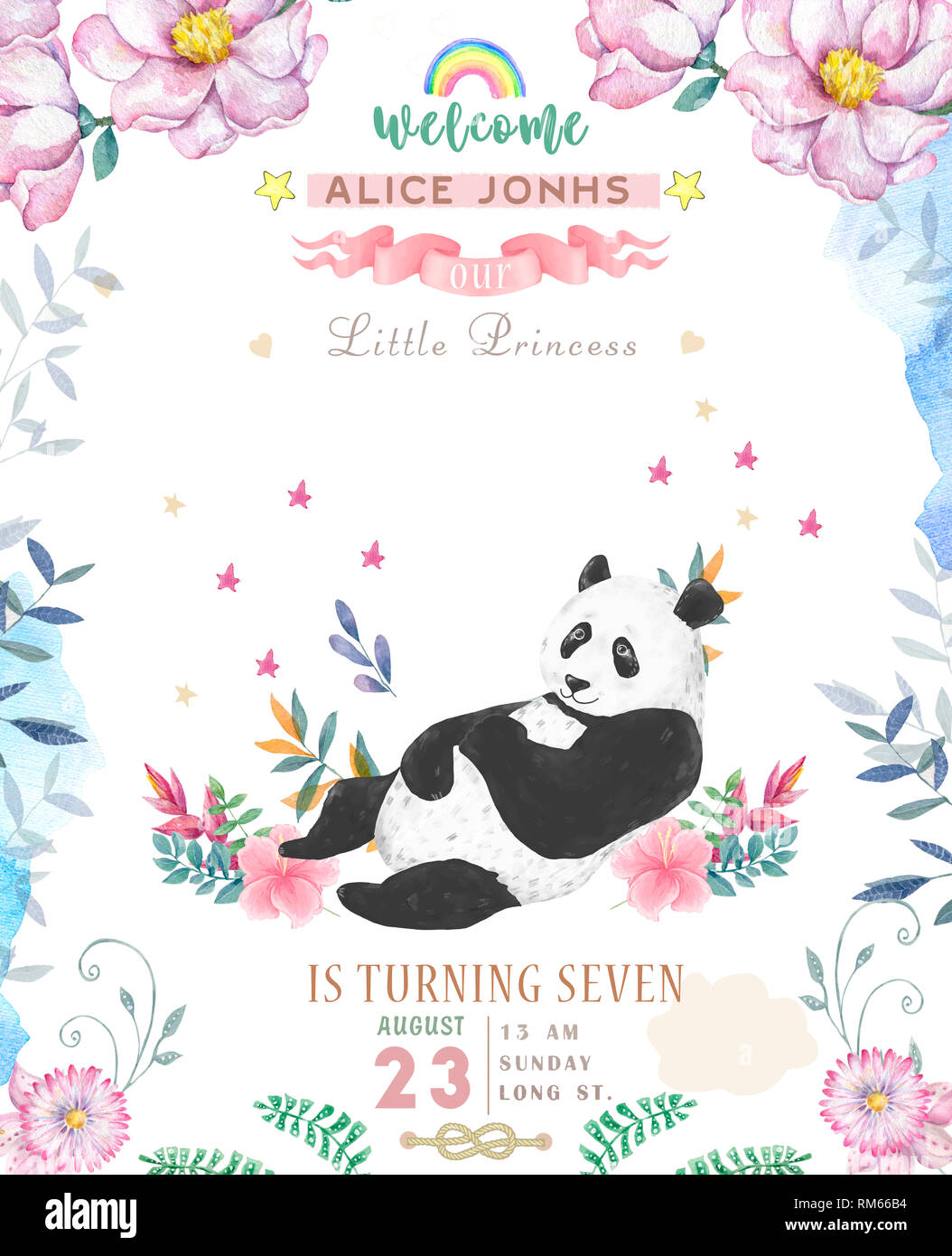 Cute Panda Giving Birthday Wishes, Cute, Panda, Birthday Wishes PNG  Transparent Clipart Image and PSD File for Free Download
