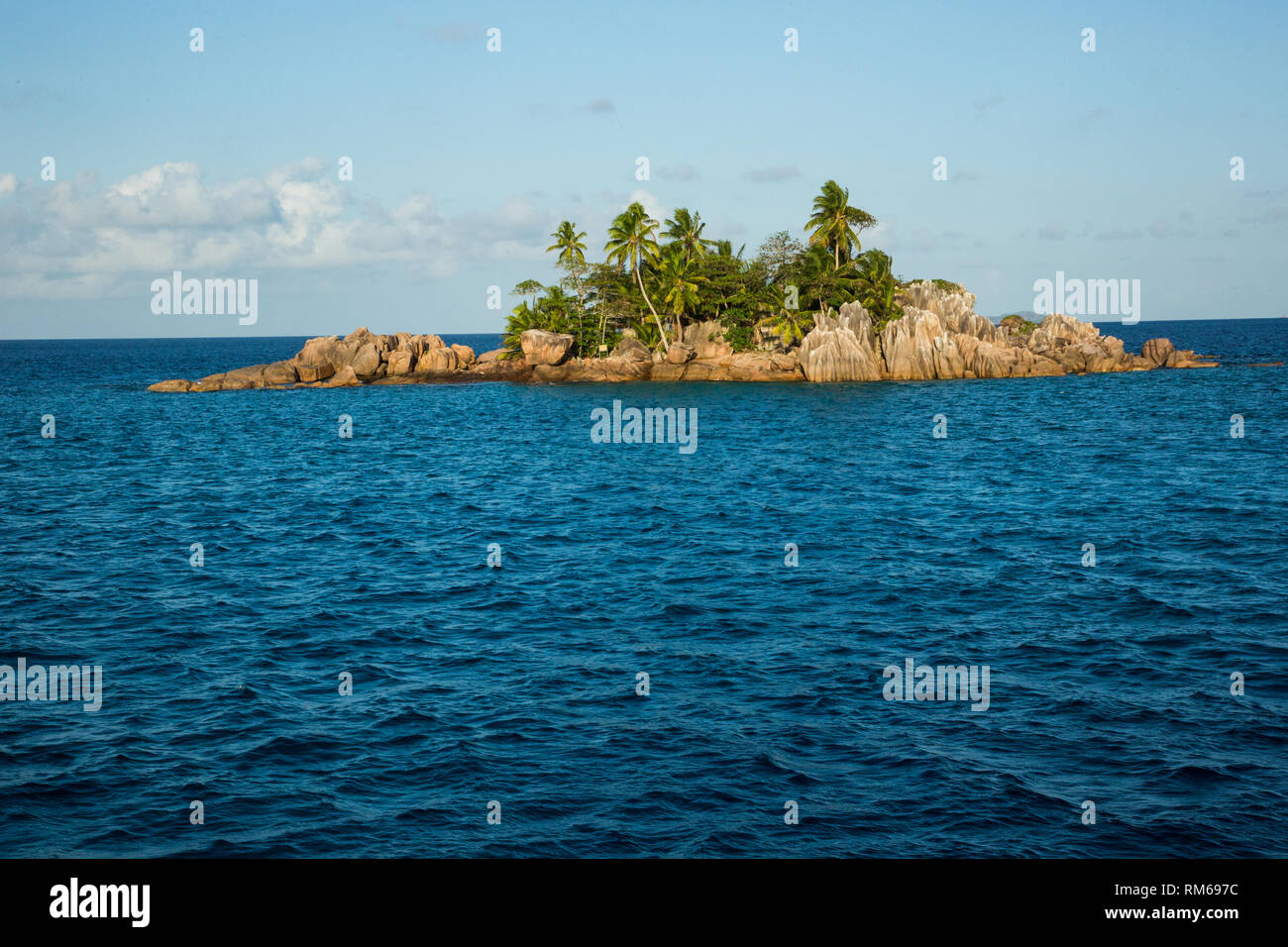 St. Pierre Island is a raised reef island west of Providence Atoll and part of Farquhar Group, which belongs to the Outer Islands of the Seychelles - Stock Image