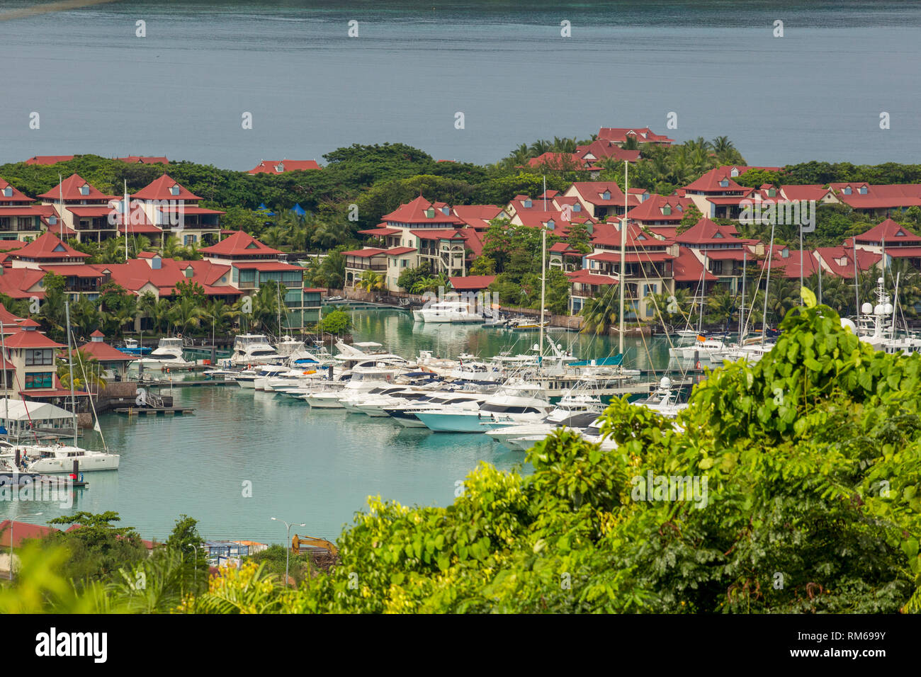 Victoria is the capital city of Seychelles and is situated on the north-eastern side of Mahé island, the archipelago's main island. - Stock Image