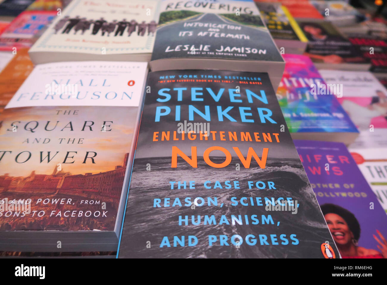 Barnes & Noble Booksellers Book Display, NYC, USA - Stock Image