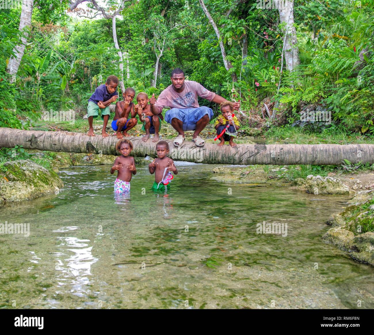 Ni-Van Boys Efate - Stock Image