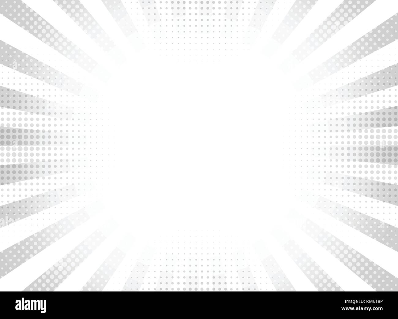 Abstract gray halftone rays circle background. vector eps10 - Stock Image