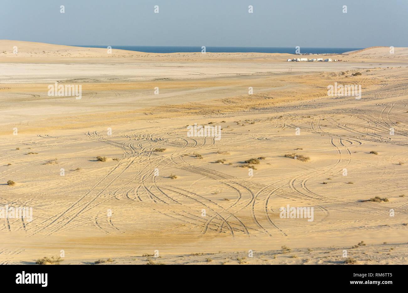 Landscape in Khor Al Adaid desert in Qatar. - Stock Image