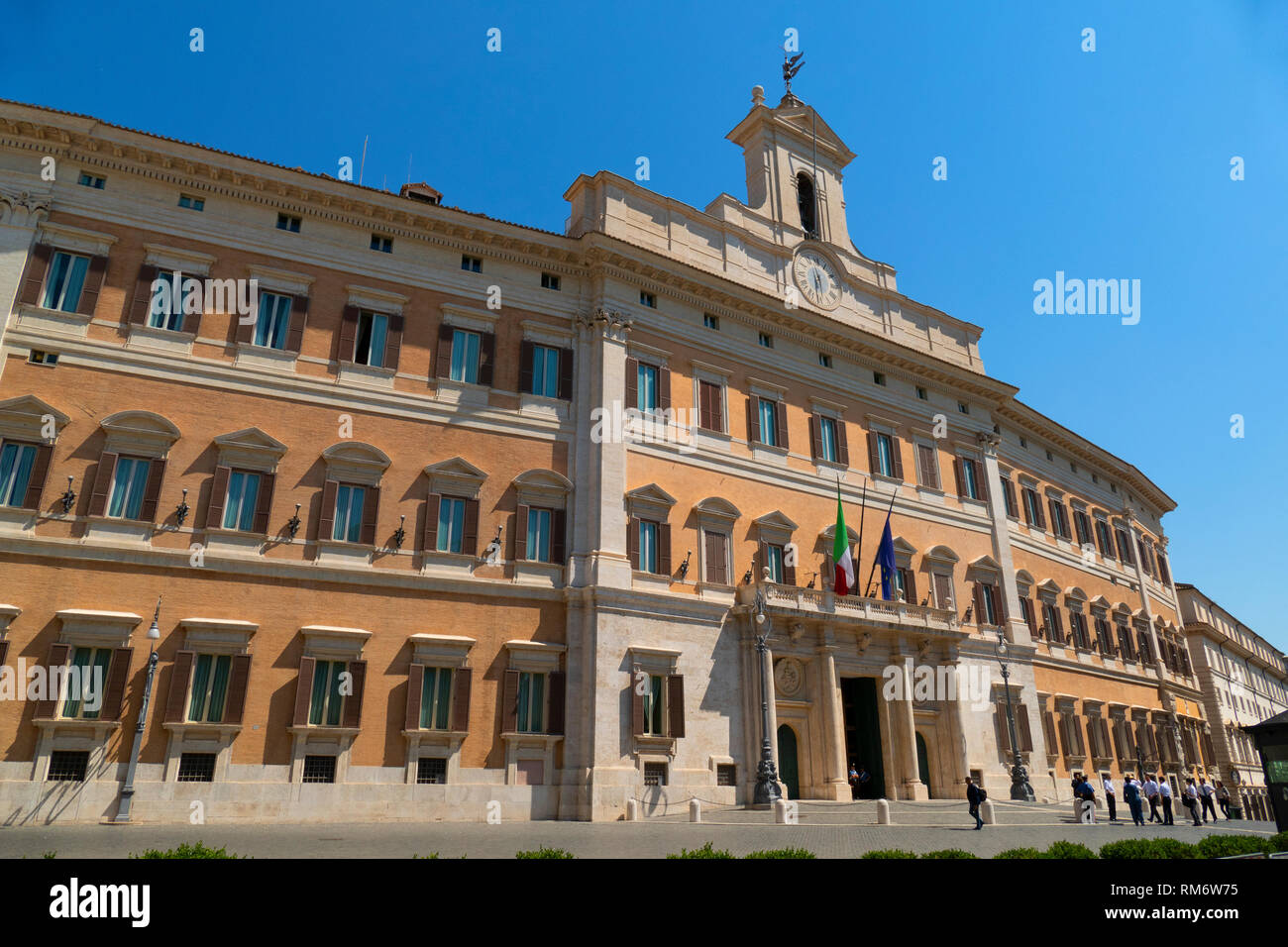 palazzo montecitorio a palace in rome and the seat of the italian rh alamy com