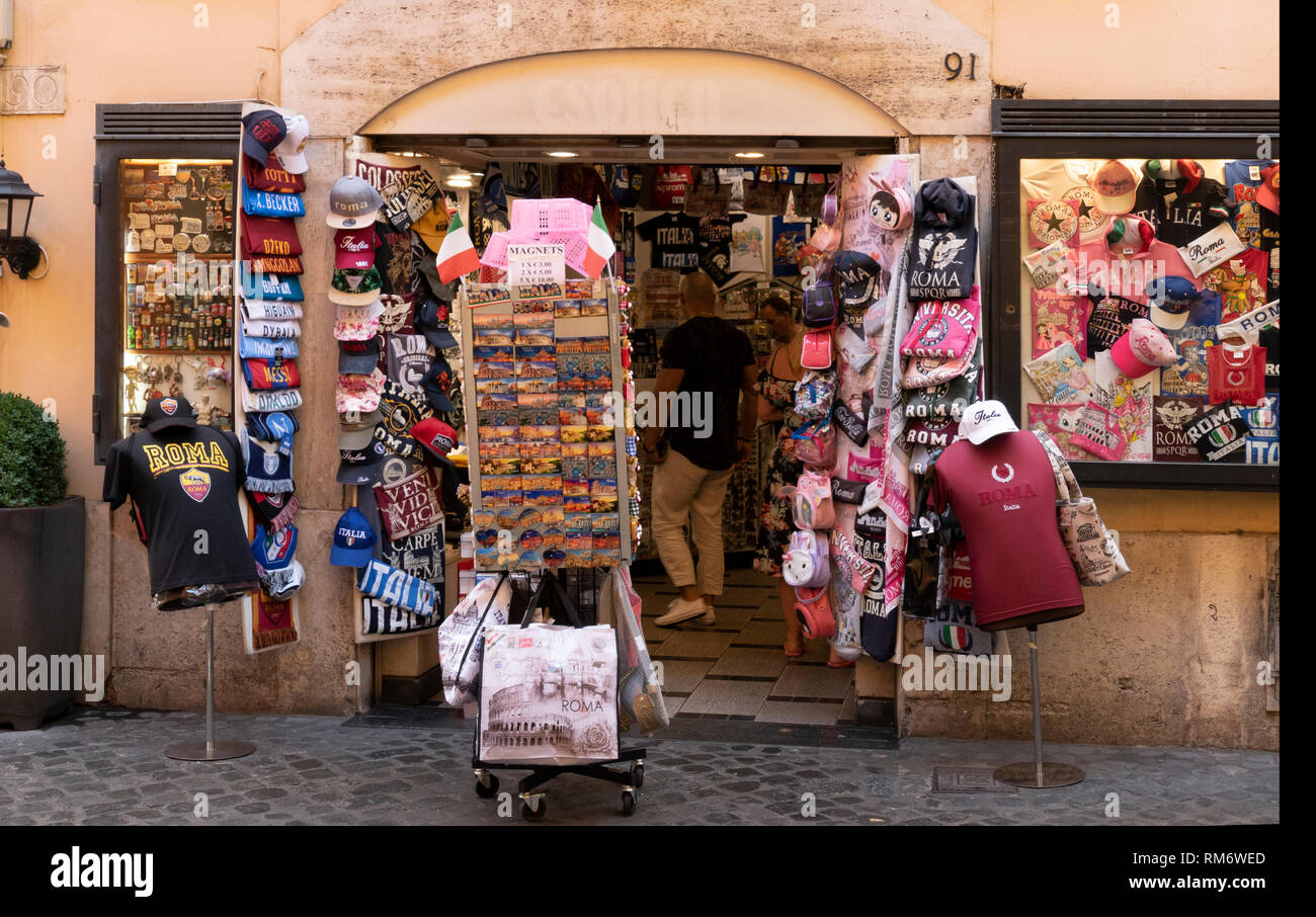 Souvenirs from Rome, Italy - Stock Image
