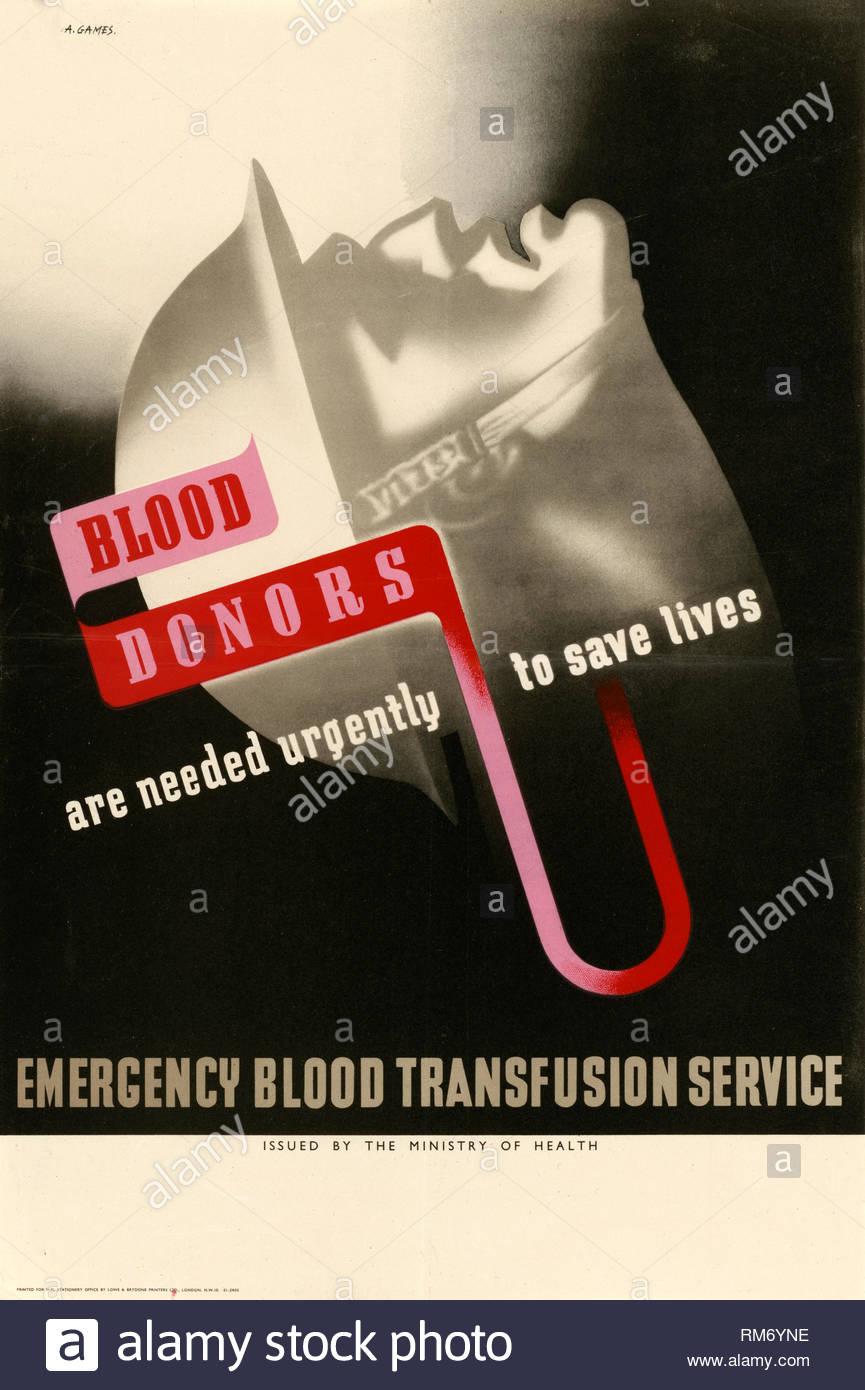 British World War 2 Public Information Propaganda poster - Stock Image