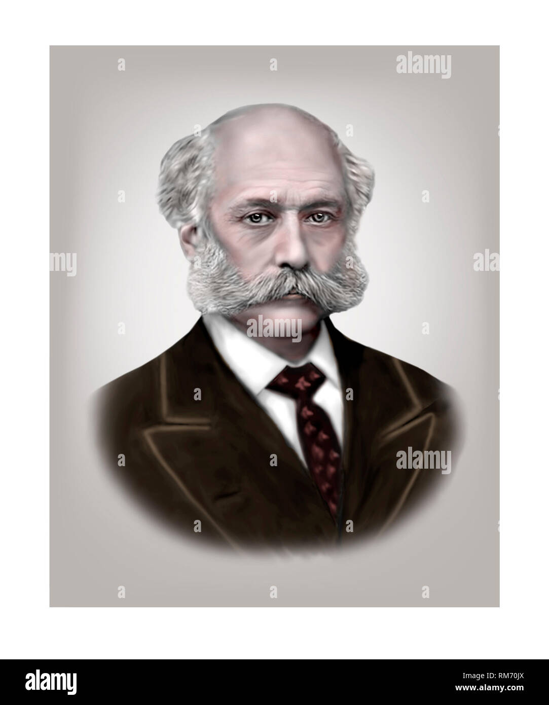 Joseph Bazalgette 1819-1891 English Civil Engineer - Stock Image
