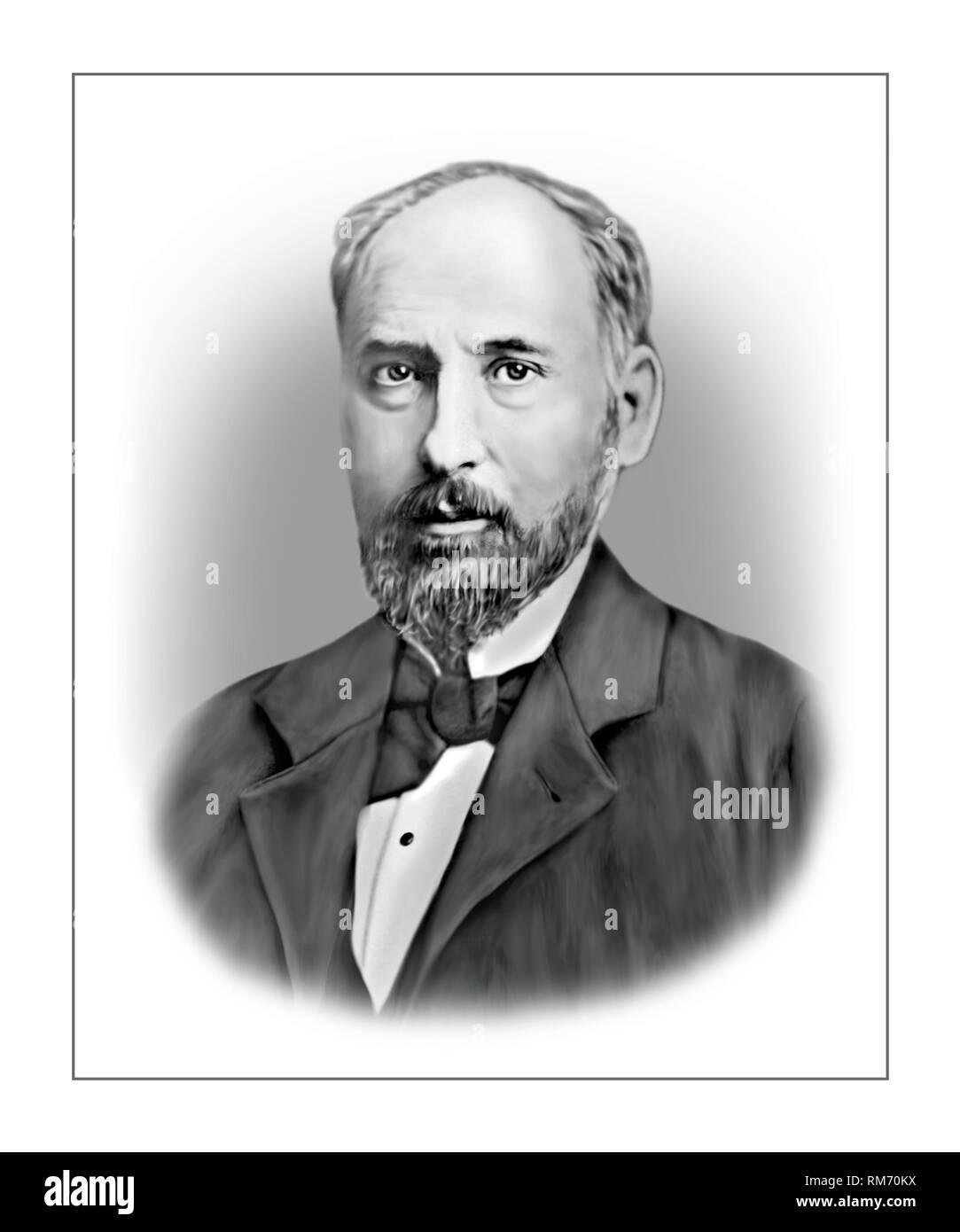 Santiago Ramon y Cajal 1852-1934 Spanish Neuroscientist Pathologist - Stock Image