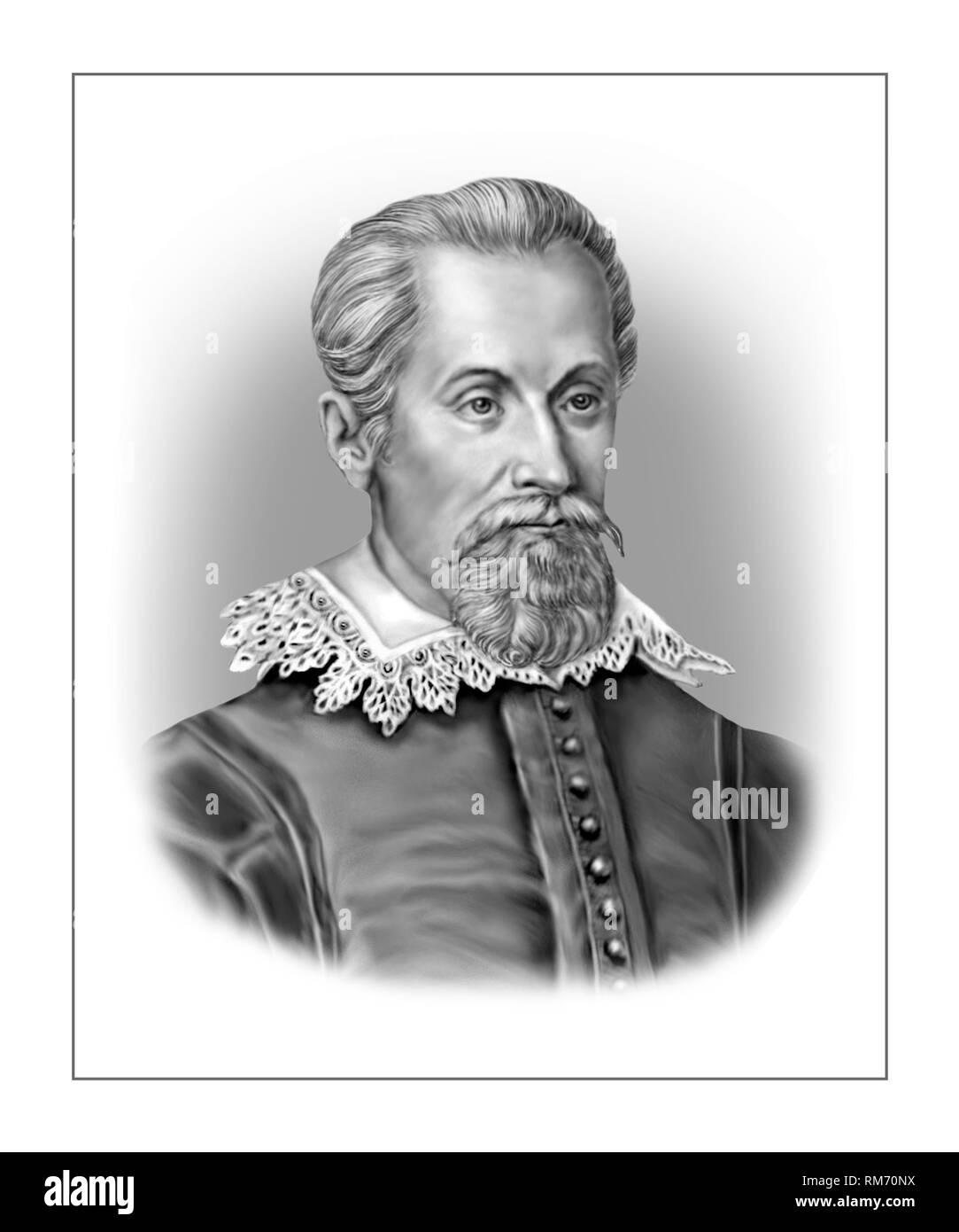 Johannes Kepler 1571-1630 German Mathematician Astronomer Stock Photo