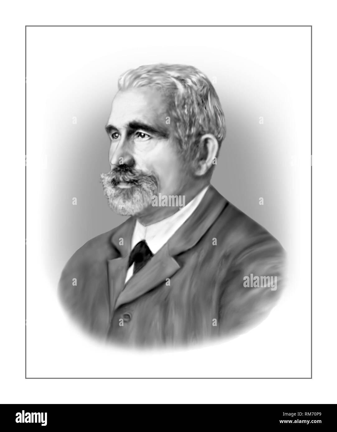 Emil Kraepelin 1856-1926 German Psychiatrist - Stock Image