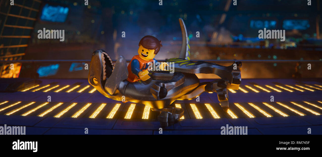 The Lego Movie 2: The Second Part (originally under the title The Lego Movie Sequel and known in some countries as just The Lego Movie 2) is an upcoming 2019 3D computer-animated action sci-fi comedy film.    This photograph is supplied for editorial use only and is the copyright of the film company and/or the designated photographer assigned by the film or production company. - Stock Image