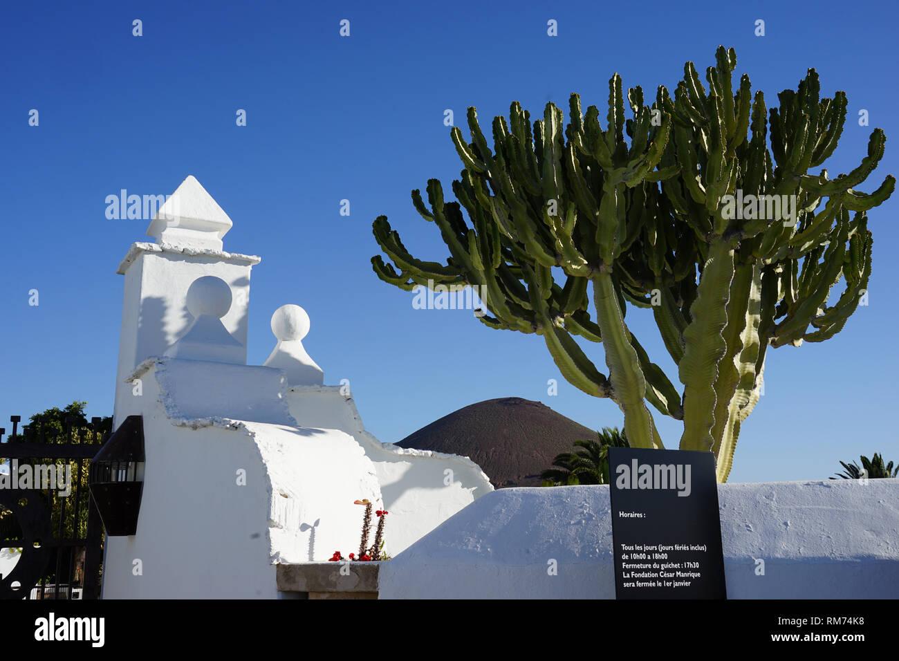 Eingangsbereich, Vulkanhaus, Fundación César Manrique,  Vulkan und Architektur, Museum, Tahiche, Lanzarote, Kanarische Inseln, Spanien - Stock Image