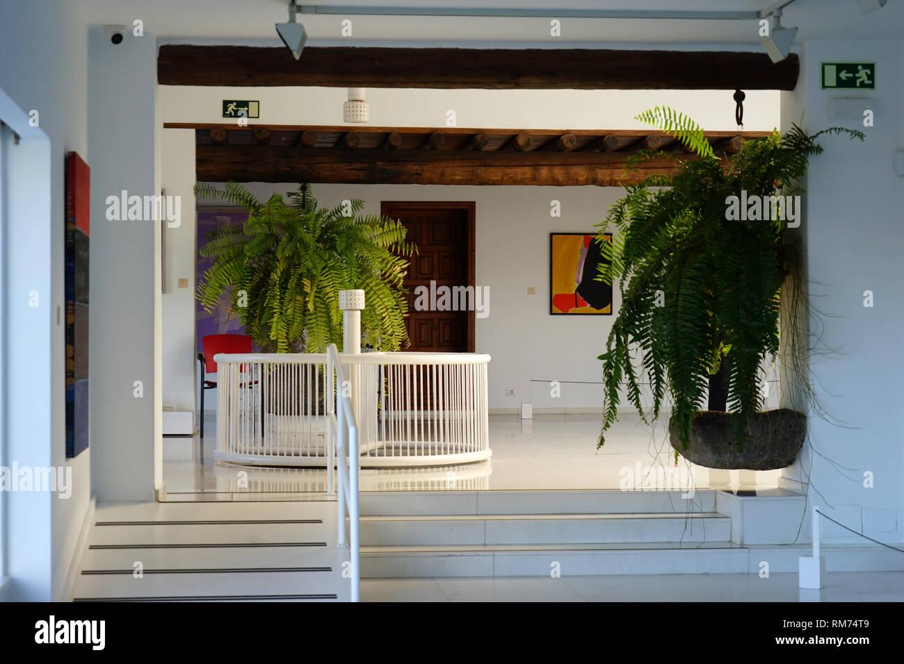 Ausstellungsraum, Vulkanhaus, Fundación César Manrique,  Vulkan und Architektur, Museum, Tahiche, Lanzarote, Kanarische Inseln, Spanien - Stock Image