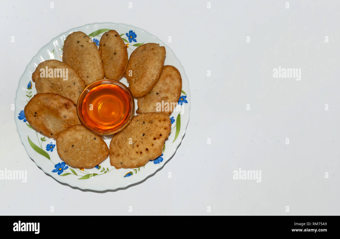 Malpua- Indian traditional desserts or pancake for festivals. - Stock Image