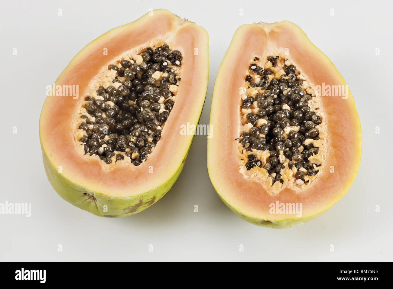 papaya metà - Stock Image