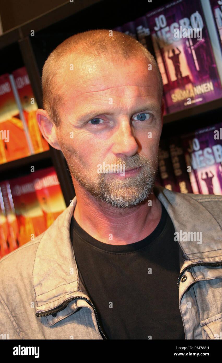 Jo Nesbö Norwegian writer of Crime novels and former economist - Stock Image