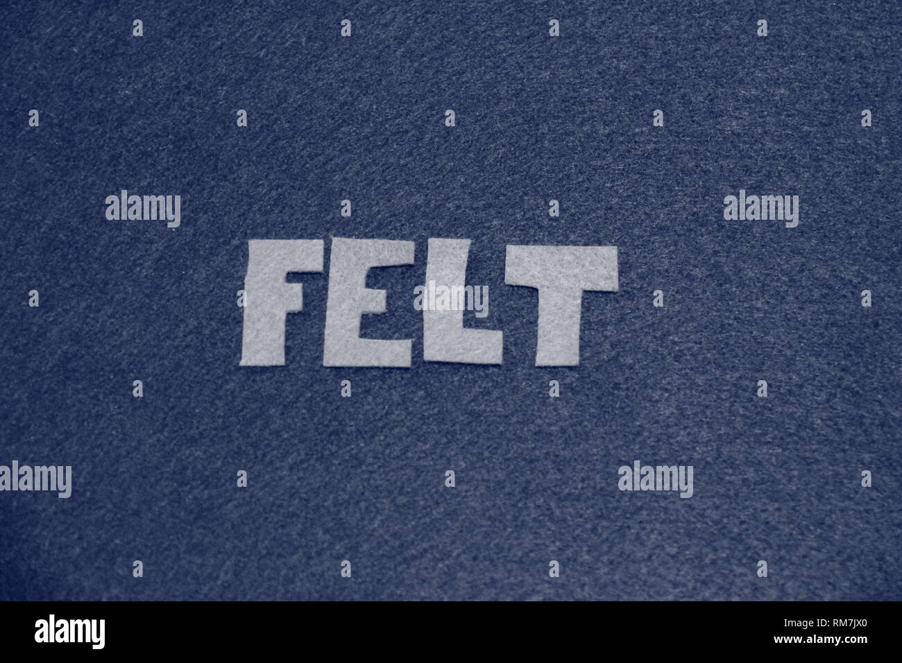 Self referencing felt letters - Stock Image