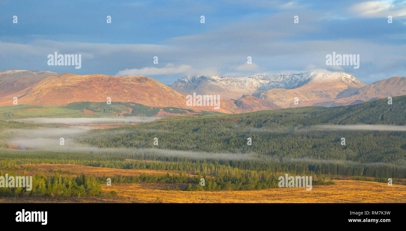 Ben More Assynt and Glen Oykel, Sutherland - Stock Image