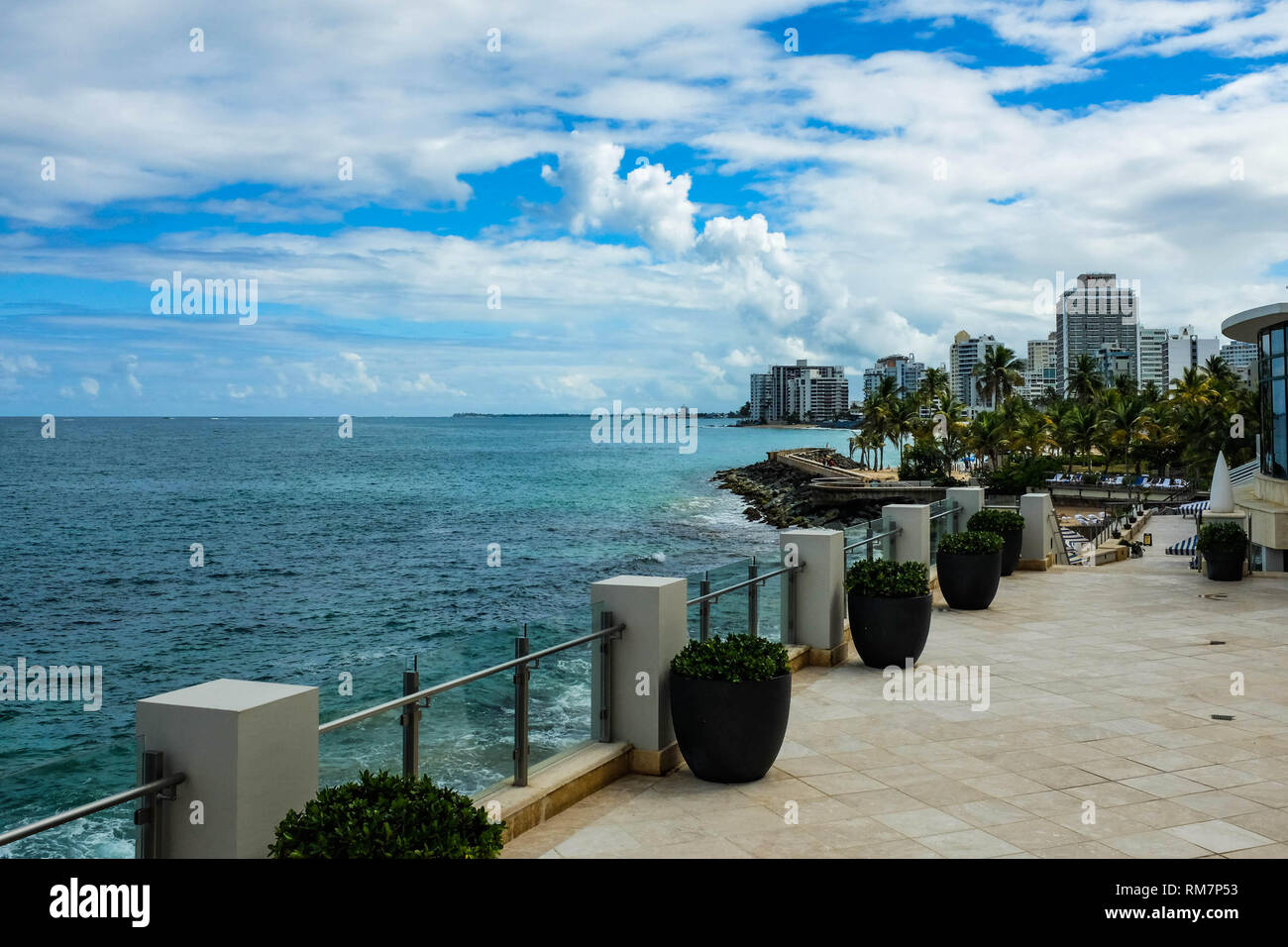 Umbrella Street is seen in San Juan, Puerto Rico above Fortaleza Street in the Old Town Section of the city.  It is close to the cruise terminal. - Stock Image
