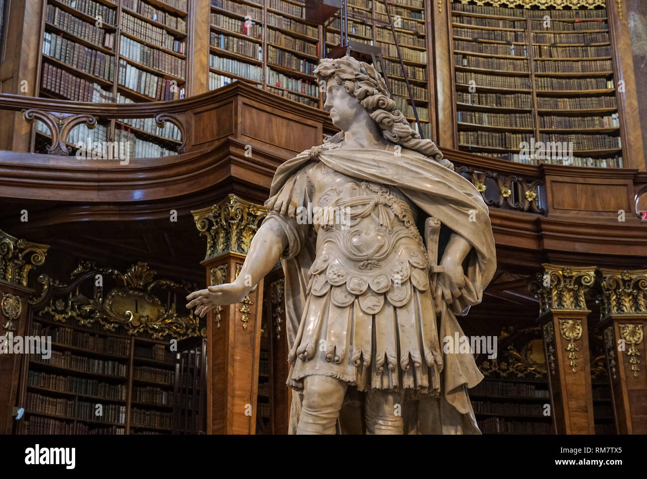 Austrian National Library in Vienna, Austria - Stock Image