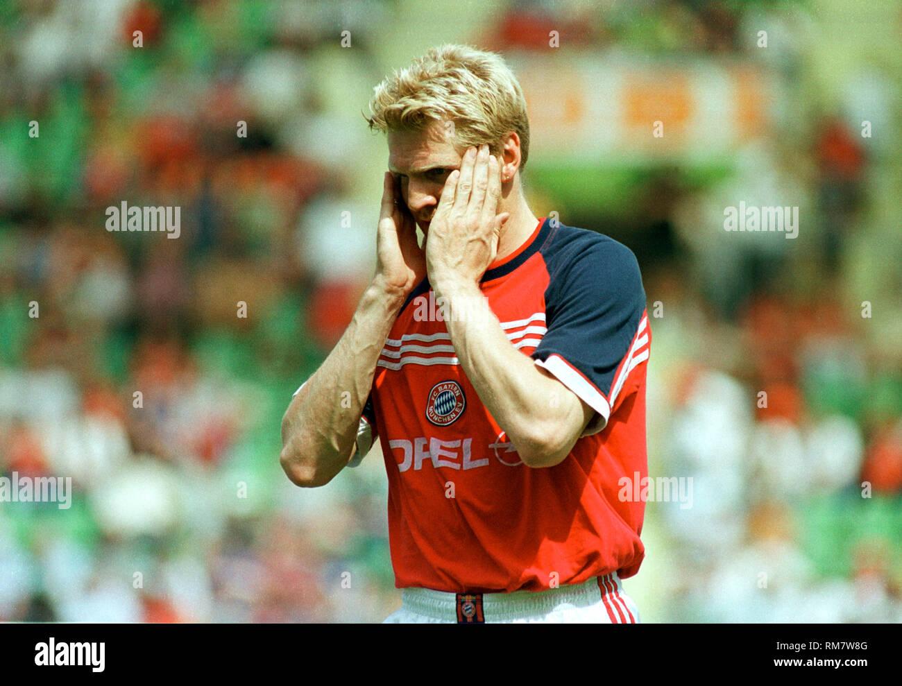 BayArenaLeverkusen 29.5.1999, 1. Fussball Bundesliga Saison 1998/1999 34.Spieltag,  Bayer 04 Leverkusen vs FC Bayern MŸnchen (Munchen, Muenchen) ---Stefan Effenberg, Bayern - Stock Image