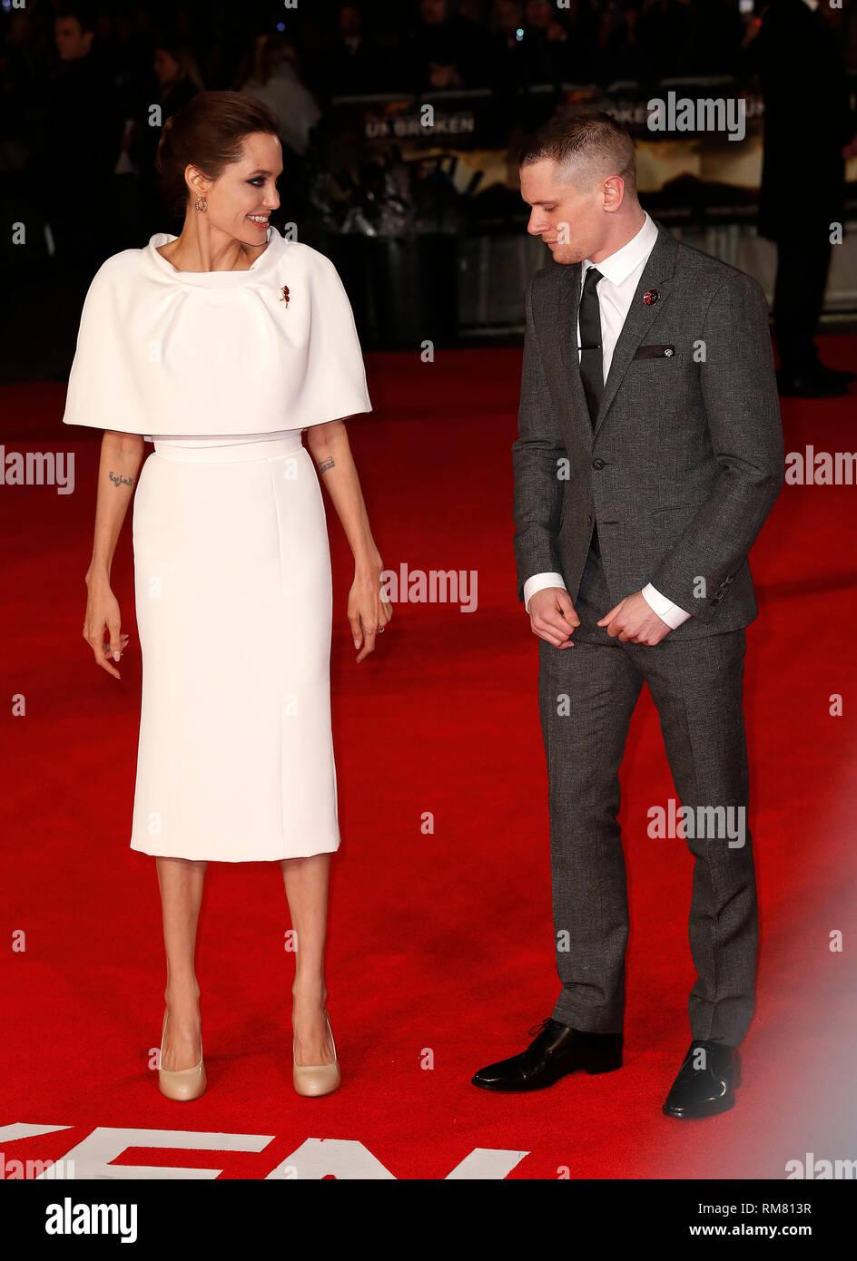 Nov 25 2014 Unbroken UK Premiere Red Carpet Arrivals at
